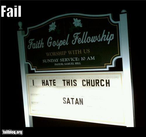 Church Marquee Fail