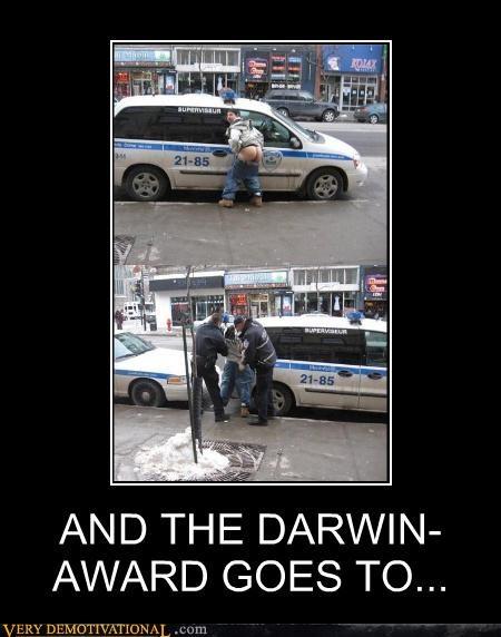 darwin award,idiots,mooning,police