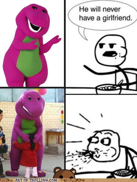 barney,cereal guy,kids,pedobear