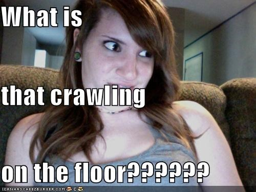 What is  that crawling on the floor??????