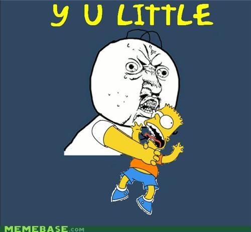 bart,simpsons,Y U No Guy,you little