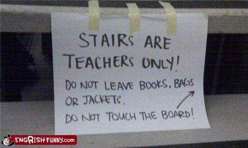 engrish,note,stairs