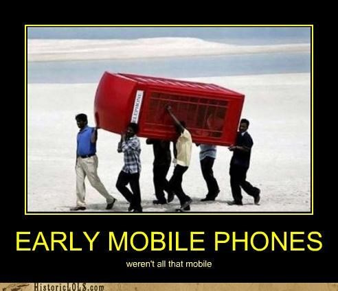 EARLY MOBILE PHONES