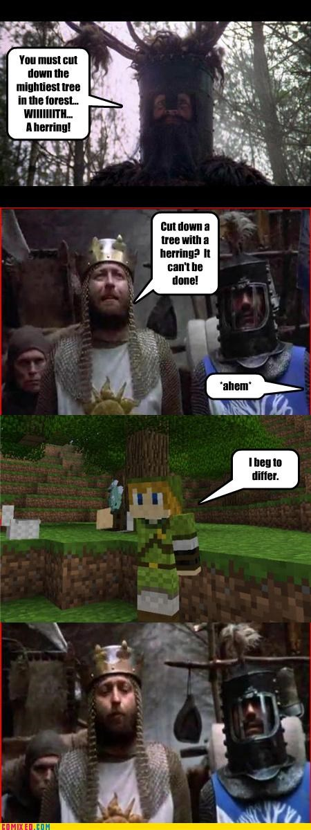 From the Movies,herring,minecraft,monty python,tree