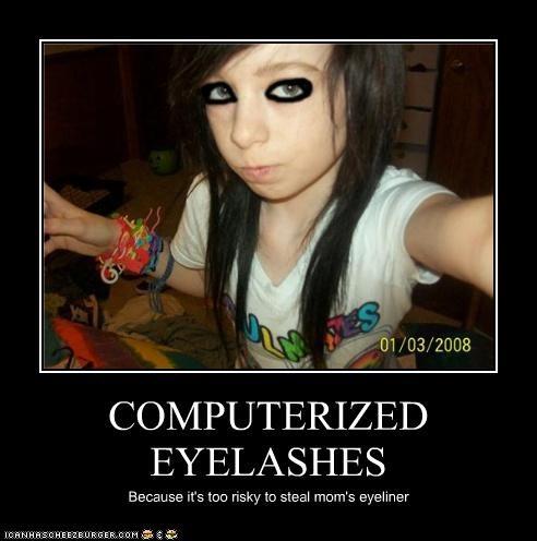 emolulz,eyeliner,kid,photoshop
