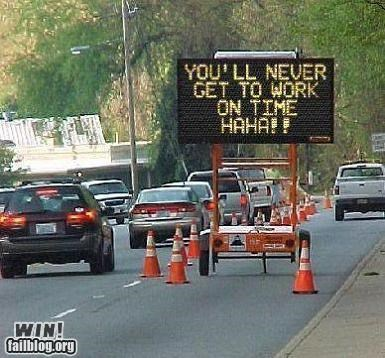 Construction Sign WIN