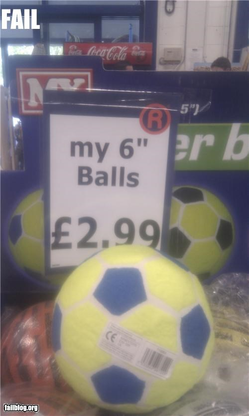 Ball Size FAIL
