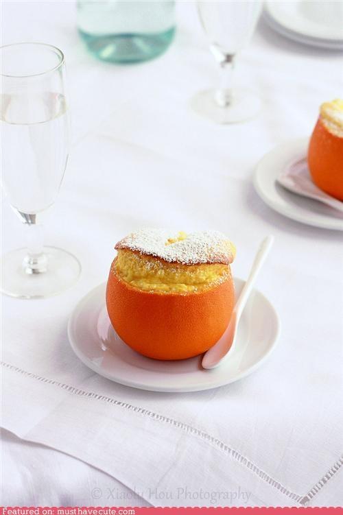 bowl,epicute,orange,rind,skin,souffle