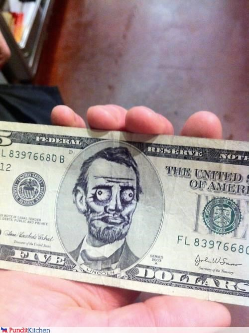 abraham lincoln,me gusta,Memes,money,political pictures