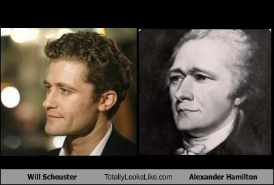 Will Scheuster Totally Looks Like Secretary of the Treasury Alexander Hamilton