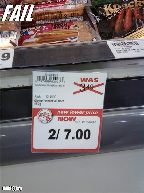Lower Price FAIL