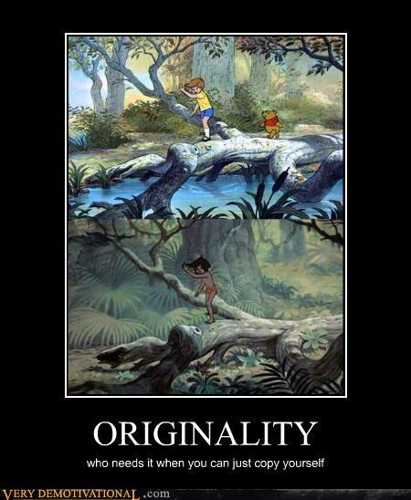copy,disney,Jungle Book,orginality,winnie the pooh