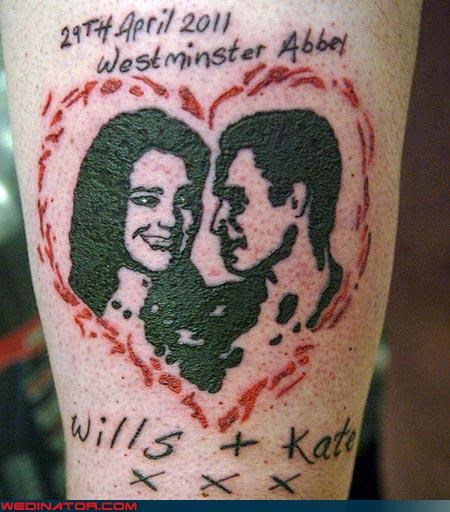 funny wedding photos,kate middleton,prince william,royal roundup,royal wedding,Royal Wedding Madness,tattoo