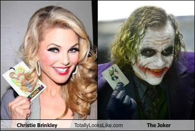 actors,batman,Christie Brinkley,heath ledger,models,movies,the dark knight,the joker