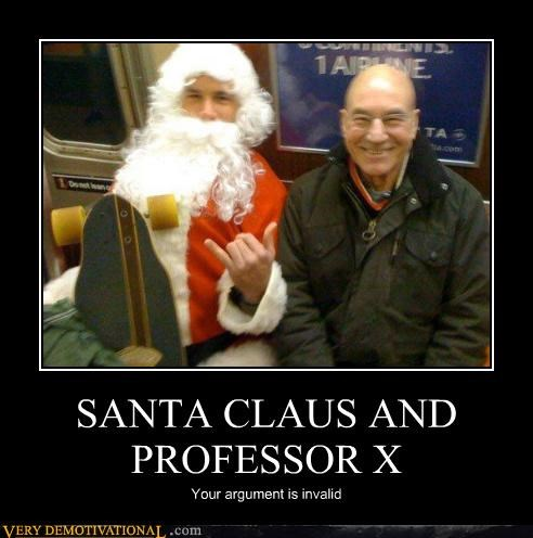 SANTA CLAUS AND PROFESSOR X