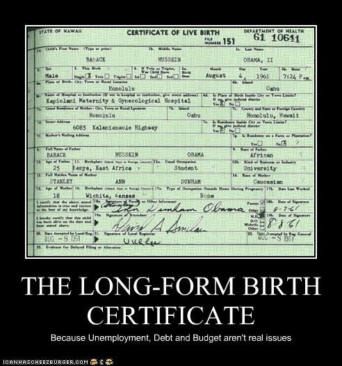 THE LONG-FORM BIRTH CERTIFICATE