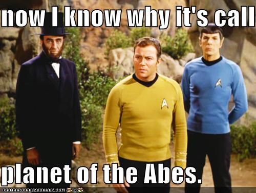 now I know why it's called  planet of the Abes.
