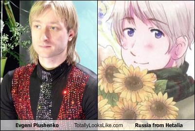 Evgeni Plushenko Totally Looks Like Russia from Hetalia