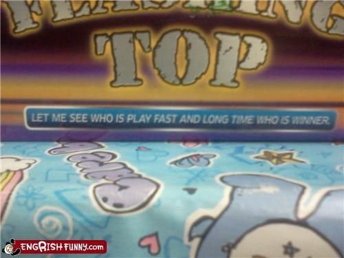 Me Play Fast Long Time
