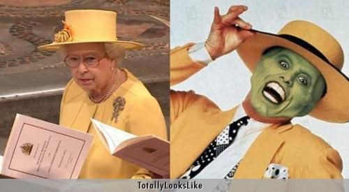 "Queen Elizabeth Totally Looks Like Jim Carrey in ""The Mask"""