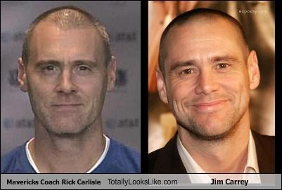 Mavericks Coach Rick Carlisle Totally Looks Like Jim Carrey