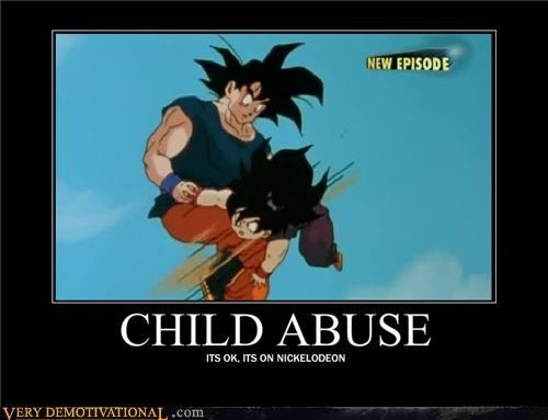 child abuse,Dragon Ball Z,goku,nickelodeon