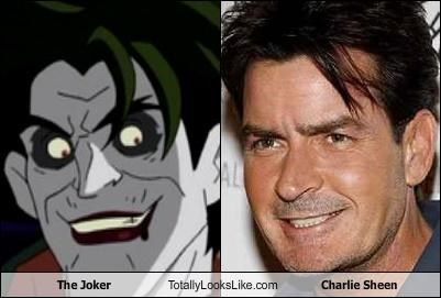 The Joker Totally Looks Like Charlie Sheen