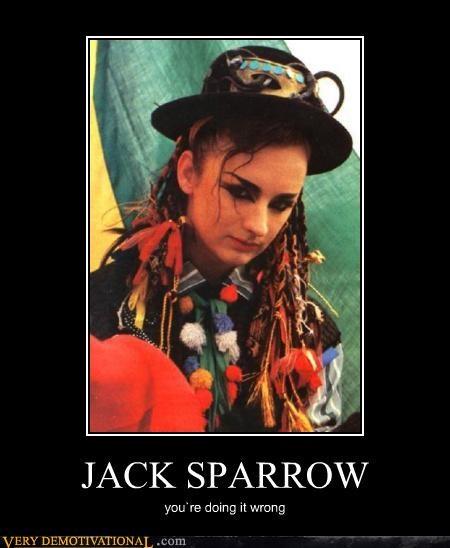 boy george,horrible,jack sparrow,karma chameleon,Pirate