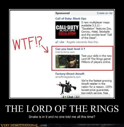 Lord of the Rings,metal gear solid,snake