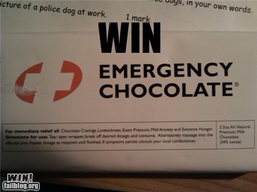 Emergency Chocolate WIN