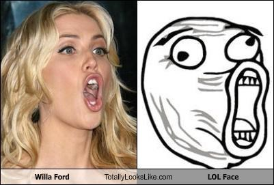 Willa Ford Totally Looks Like LOL Face