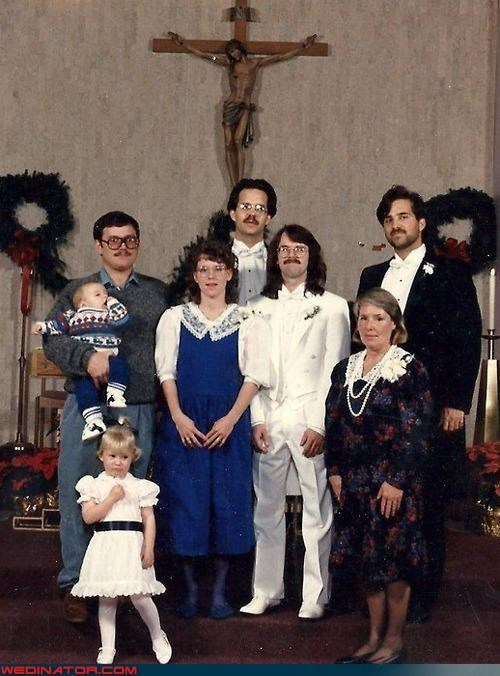 80s,Awkward,family,funny wedding photos,Hall of Fame
