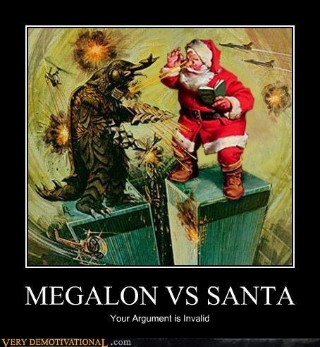fight,Invalid Argument,Japan,megalon,santa
