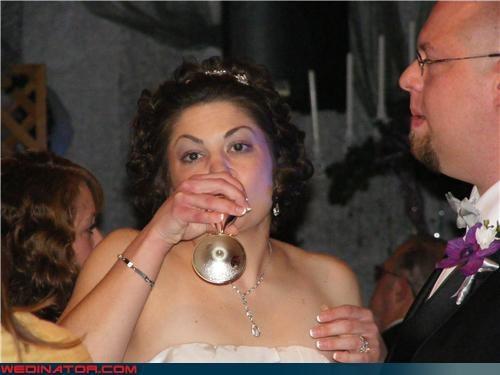 alcohol,boozing bride,funny wedding photos
