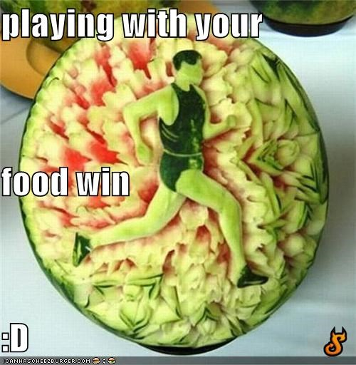 playing with your food win  :D