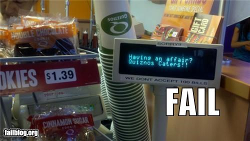 Catering FAIL