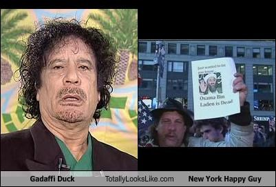 Gadaffi Duck Totally Looks Like New York Happy Guy