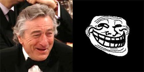 actors,Memes,robert de niro,troll face