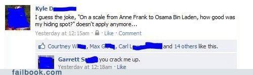 anne frank,dark humor,osama,too soon