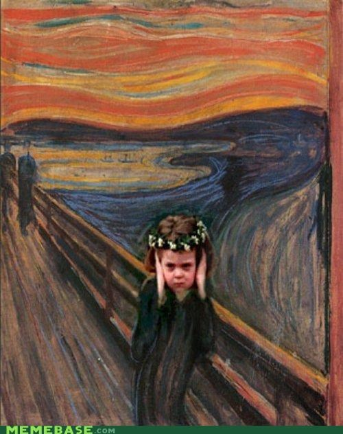 Flower,girl,Memes,royal wedding,screaming,The Scream