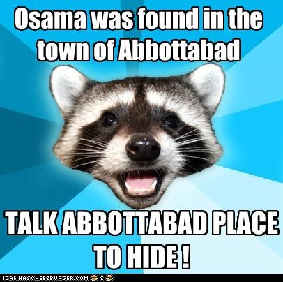 Lame Pun Coon: Tell Me Abbotta