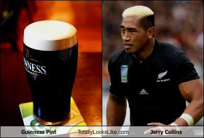 Guinness Pint Totally Looks Like Jerry Collins
