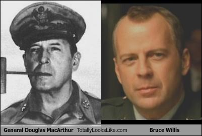 actors,bruce willis,general douglas macarthur
