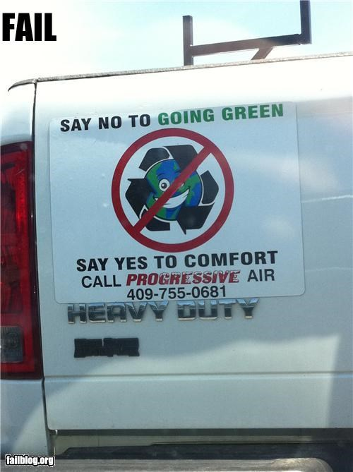 air conditioning,america,environmental,failboat,g rated,green,truck