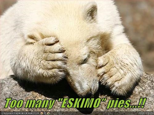"Too many ""ESKIMO"" pies...!!"