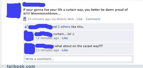 U BETTER BE CURTAIN!