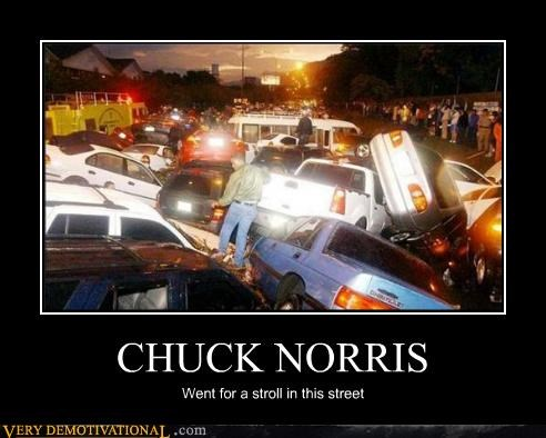 cars,chuck norris,crash,hilarious,stroll