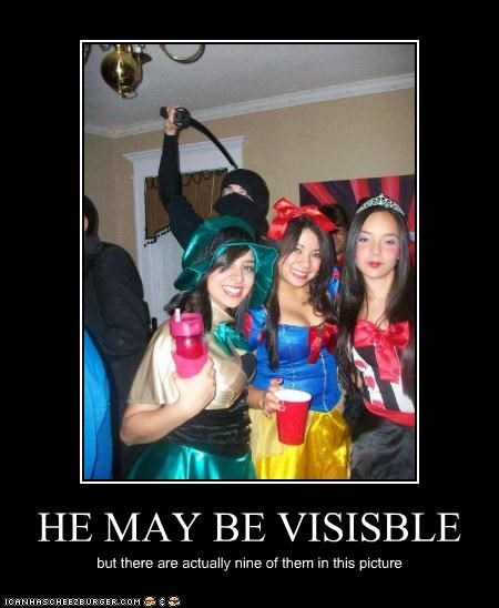 HE MAY BE VISISBLE