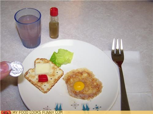 breakfast,cheese,egg,juice,lettuce,miniature,toast