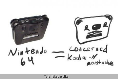 Nintendo 64 Totally Looks Like Concerned Koala With Mustache